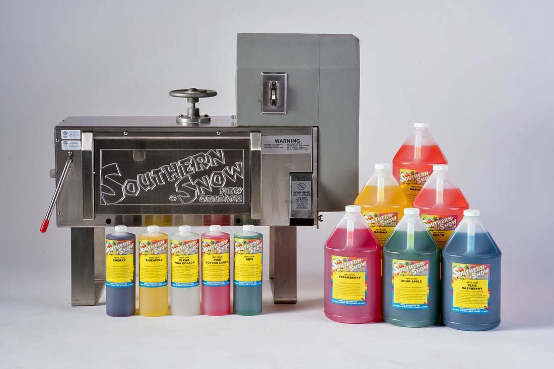 Southern Snow Snow Ball Machine and Syrups